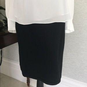 Ellen Tracy Wool Size S Stretch Pencil Skirt